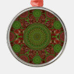 Ornamento rojo del arsenal de la mandala del navid adorno de reyes
