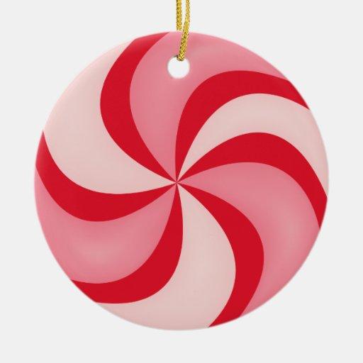 Ornamento rojo del caramelo de hierbabuena ornamento de navidad