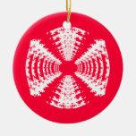 Ornamento rojo del caramelo duro ornamente de reyes