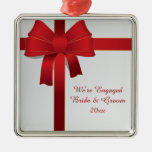 Ornamento rojo del compromiso del invierno del adornos de navidad