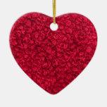 Ornamento rojo del corazón del vintage ornamentos para reyes magos