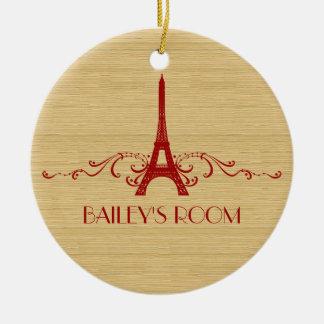 Ornamento rojo del Flourish del francés Ornamentos Para Reyes Magos