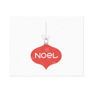 Ornamento rojo del navidad de Noel Impresiones De Lienzo