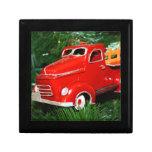 Ornamento rojo del navidad del camión (4) caja de regalo