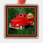 Ornamento rojo del navidad del camión (4) ornamento de reyes magos