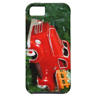 Ornamento rojo del navidad del camión (4) iPhone 5 protector