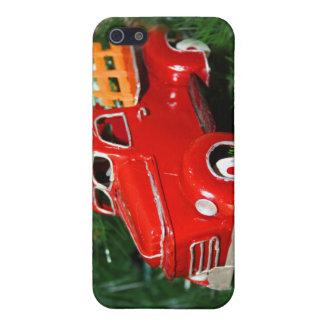 Ornamento rojo del navidad del camión (4) iPhone 5 cárcasa