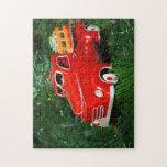Ornamento rojo del navidad del camión (4) rompecabezas