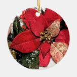 Ornamento rojo del navidad del día de fiesta del ornatos