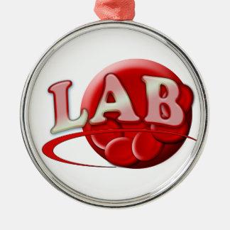 ORNAMENTO rojo del NAVIDAD del glóbulo del LABORAT Ornamento De Navidad