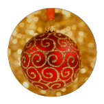 Ornamento rojo del navidad fichas de póquer
