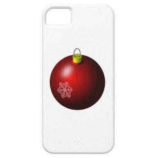 Ornamento rojo del navidad iPhone 5 funda