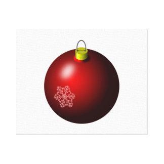 Ornamento rojo del navidad impresion de lienzo
