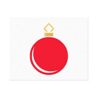 Ornamento rojo del navidad impresion en lona