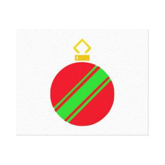 Ornamento rojo del navidad impresiones en lienzo estiradas