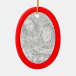Ornamento rojo del óvalo del marco ornatos