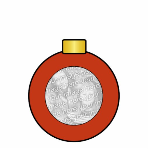 Ornamento rojo del personalizado del bulbo del árb adorno fotoescultura