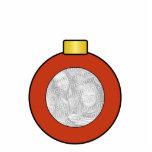 Ornamento rojo del personalizado del bulbo del árb escultura fotografica