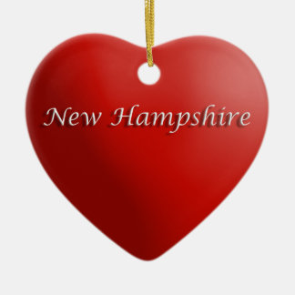 Ornamento rojo del recuerdo del corazón de New Ham Adornos