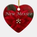 Ornamento rojo del recuerdo del corazón del adorno navideño de cerámica en forma de corazón