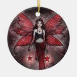 Ornamento rojo hermoso de la hada del navidad adornos de navidad