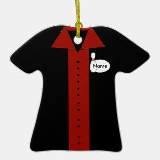 Ornamento rojo personalizado de la camisa de los b ornamentos de reyes