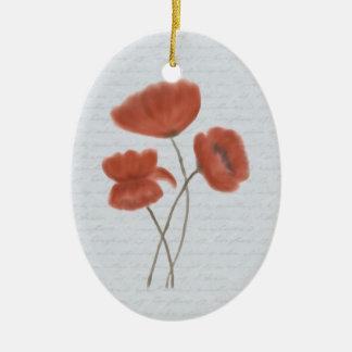 Ornamento rojo romántico de las amapolas ornatos
