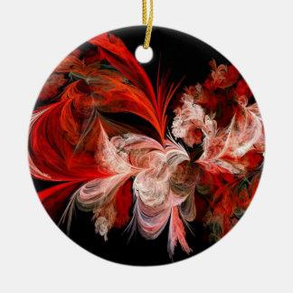 Ornamento rojo y negro abstracto del árbol de ornato