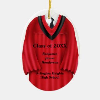 Ornamento rojo y negro del vestido masculino del g adorno de navidad