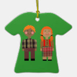 Ornamento rojo y verde Raggedy de Ana y de Andy de Ornamento Para Reyes Magos