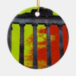 Ornamento romano antiguo del navidad del foro adorno redondo de cerámica