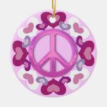 Ornamento rosado bonito del signo de la paz y de l adorno