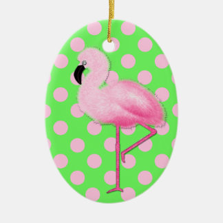 Ornamento rosado caprichoso del navidad del flamen adornos de navidad