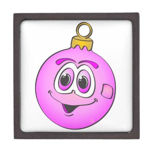 Ornamento rosado Cartoon.png del navidad Caja De Joyas De Calidad