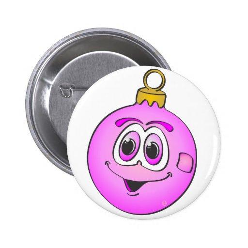 Ornamento rosado Cartoon.png del navidad Pins