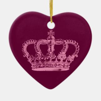 Ornamento rosado de la corona adorno de navidad