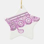 Ornamento rosado de la flauta adorno de navidad