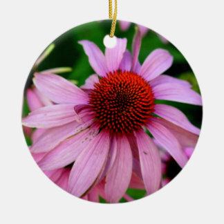 ornamento rosado de la flor del echinacea ornaments para arbol de navidad