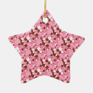 ORNAMENTO rosado de la Oscuro-ESTRELLA de los Adorno Navideño De Cerámica En Forma De Estrella