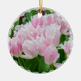 Ornamento rosado de los tulipanes del loro ornato