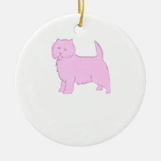 Ornamento rosado de Terrier de mojón Ornato