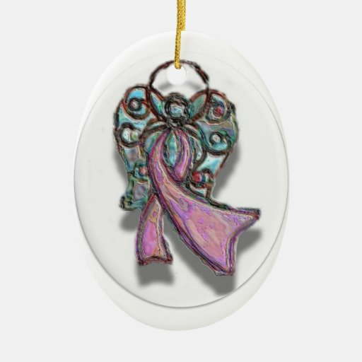 Ornamento rosado del ángel de la cinta ornamente de reyes
