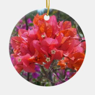 Ornamento rosado del Bougainvillea Ornamentos De Navidad