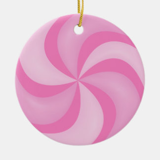 Ornamento rosado del caramelo de Swirly