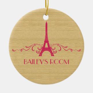 Ornamento rosado del Flourish del francés Ornamentos Para Reyes Magos