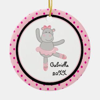 Ornamento rosado del navidad de la bailarina del h adornos