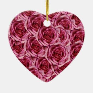Ornamento rosado del navidad de los rosas adornos de navidad