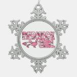 Ornamento rosado del navidad del chica del campesi adorno