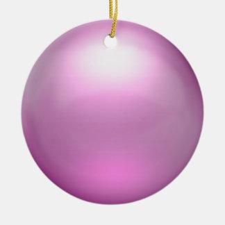 Ornamento rosado del orbe ornamento para arbol de navidad