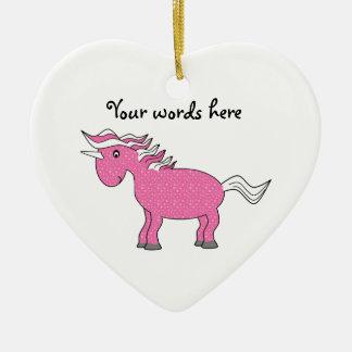 Ornamento rosado del unicornio ornamento para reyes magos